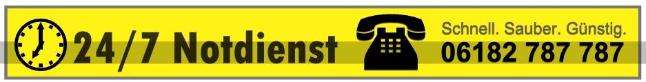 24h Notdienst bei verstopften Abflüssen und akuten Rohrverstopfungen - Telefon: 06182 787 787